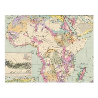 Afrika - Atlas Map of Africa Postcard