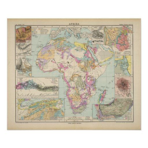 Afrika - Atlas Map of Africa Posters