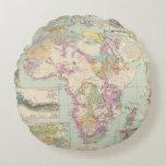 Afrika - Atlas Map of Africa Round Pillow