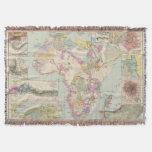 Afrika - Atlas Map of Africa Throw Blanket