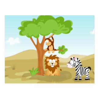 Afrika de mi serie del animal del mundo postales