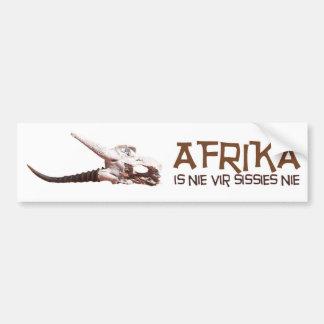 Afrika is nie vir sissies: Africa Springbok skull Bumper Sticker