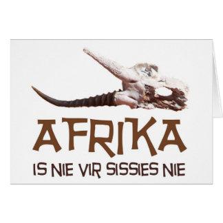 Afrika is nie vir sissies: Africa Springbok skull Card