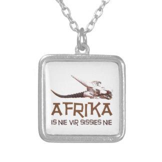 Afrika is nie vir sissies: Africa Springbok skull Custom Necklace