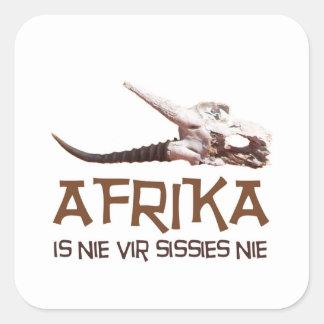 Afrika is nie vir sissies: Africa Springbok skull Square Sticker