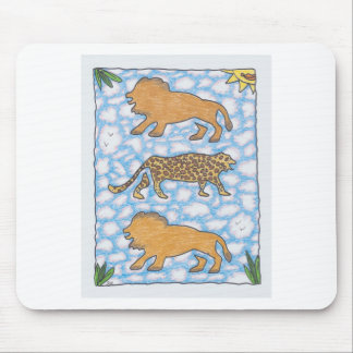 AFRIKA LIONS by Ruth I. Rubin Mouse Pad