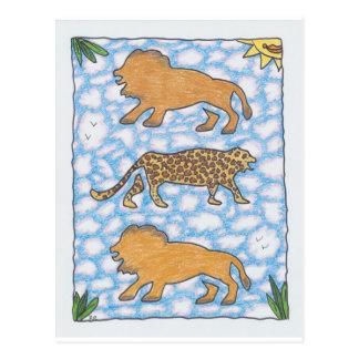 AFRIKA LIONS by Ruth I. Rubin Postcard