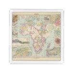 Afrika - mapa del atlas de África Bandeja Cuadrada