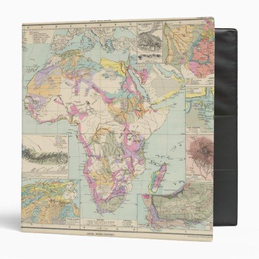 "Afrika - mapa del atlas de África Carpeta 1 1/2"""