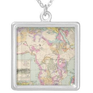 Afrika - mapa del atlas de África Colgante Cuadrado