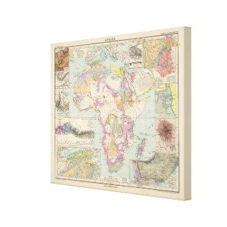 Afrika - mapa del atlas de África Lienzo Envuelto Para Galerías