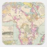 Afrika - mapa del atlas de África Pegatina Cuadrada