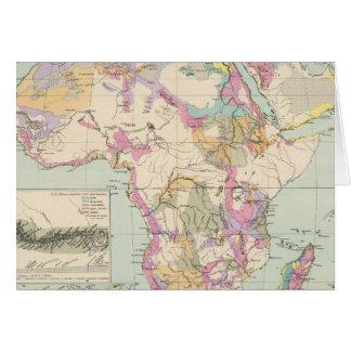 Afrika - mapa del atlas de África Tarjeta De Felicitación