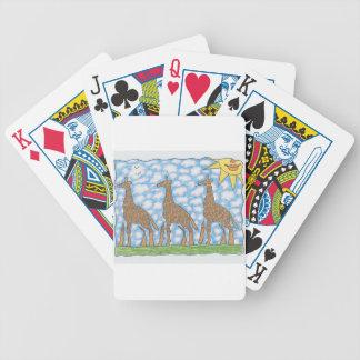 AFRIKA THREE GIRAFFES by Ruth I. Rubin Bicycle Playing Cards
