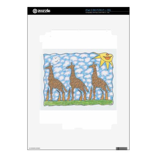AFRIKA THREE GIRAFFES by Ruth I. Rubin Skin For iPad 2