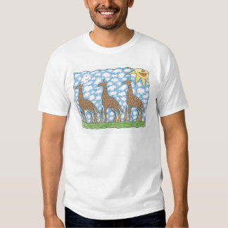 AFRIKA THREE GIRAFFES by Ruth I. Rubin T-shirt