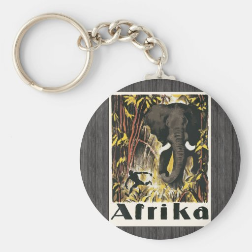 Afrika, Vintage Keychain