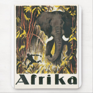 Afrika Vintage Travel Poster Mouse Pad