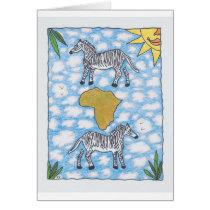 AFRIKA ZEBRAS by Ruth I. Rubin