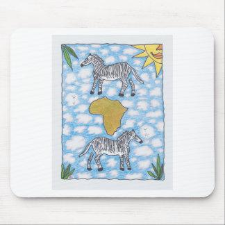 AFRIKA ZEBRAS by Ruth I. Rubin Mouse Pad