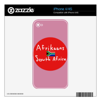 Afrikaans South Africa Language And Flag Skin For The iPhone 4S
