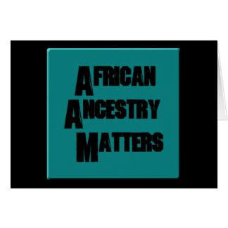 AfriMex Urbano African Ancestry Matters NoteCard