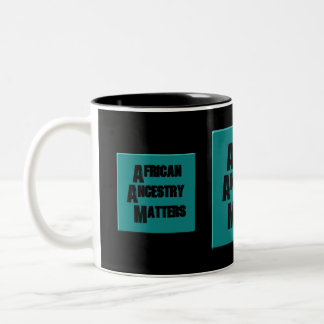AfriMex Urbano African Ancestry Matters Teal Mug