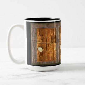 AfriMex Urbano African Wooden Doors Coin Mug