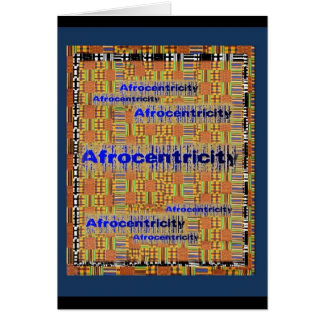 AfriMex Urbano Afrocentricity Kente Card