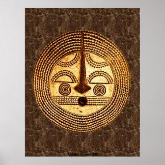 AfriMex Urbano Burkino Faso Mask Poster