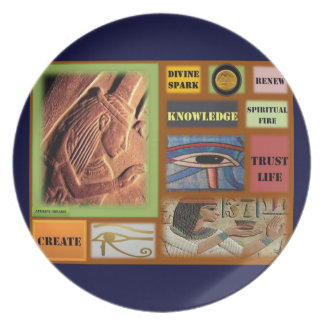 AfriMex Urbano Egyptian Inspiration Plate