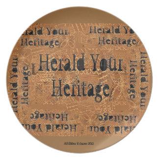 AfriMex Urbano Herald Your Heritage Plate