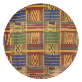 AfriMex Urbano Kente Plate