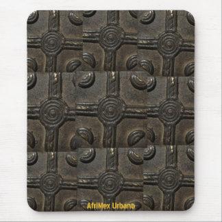 AfriMex Urbano Metal Adinkra Symbol Mousepad