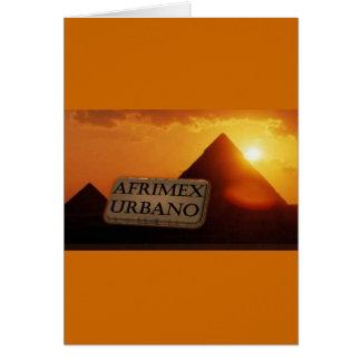 AfriMex Urbano Pyramid Sunrise Series Card