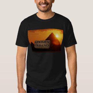AfriMex Urbano Pyramid Sunrise Series Tee Shirt