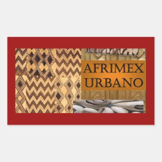 AfriMex Urbano Signature Series Post Card Red Rectangular Sticker