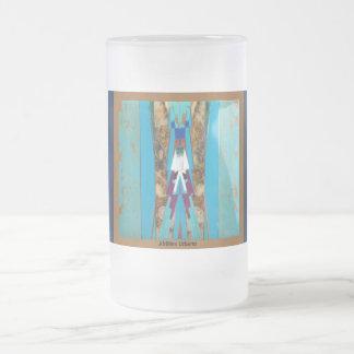 AfriMex Urbano Turquoise Shield Frosted Mug
