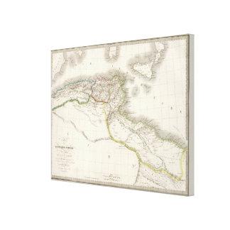 Afrique Propre - Africa Atlas Map Canvas Print