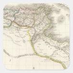 Afrique Propre - mapa del atlas de África Pegatina Cuadrada
