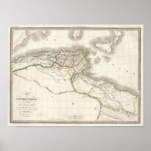 Afrique Propre - mapa del atlas de África Póster
