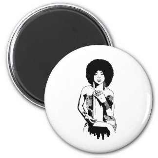 Afro 1 magnet