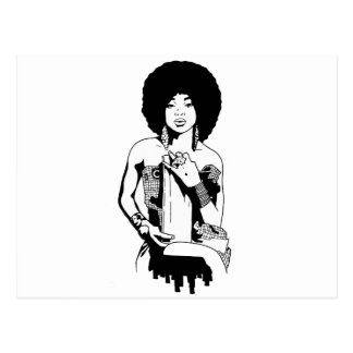 Afro 1 postcard