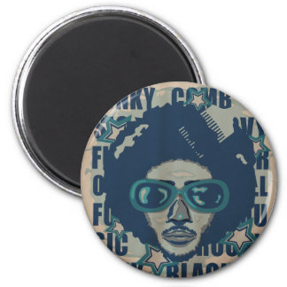 AFRO 2 INCH ROUND MAGNET