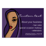 Afro American business card template hair makeup
