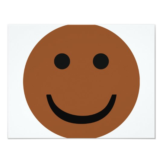 Afro-American smiley icon Card