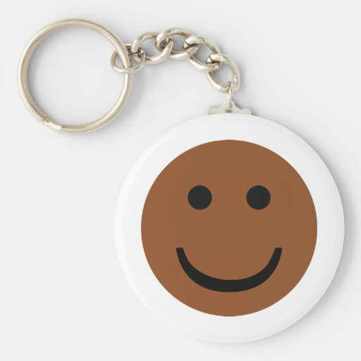 Afro-American smiley icon Keychains