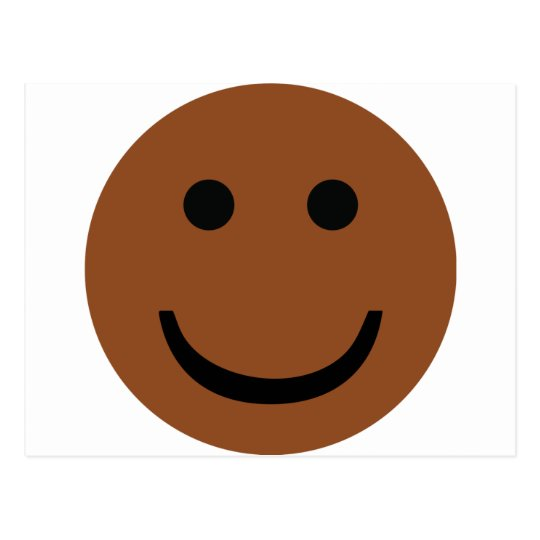 Afro-American smiley icon Postcard