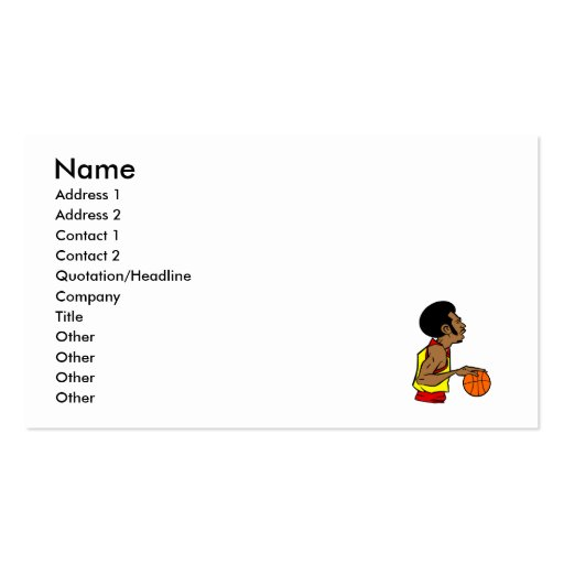 Afro Basketball Player Business Cards