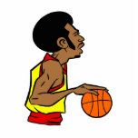 Afro Basketball Player Cut Out
